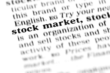 stock market (the dictionary project)