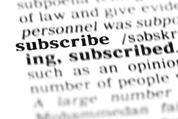 subscribe (the dictionary project)