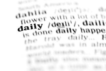 daily (the dictionary project)