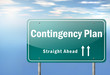 "Highway Signpost ""Contingency Plan"""
