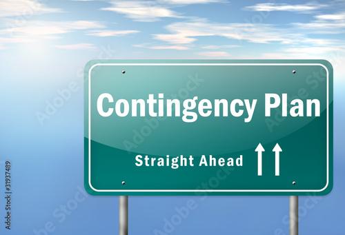 """Highway Signpost """"Contingency Plan"""""""