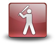 "Red 3D Effect Icon ""Baseball"""