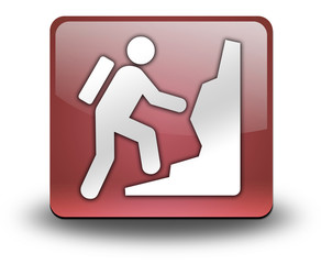 "Red 3D Effect Icon ""Climbing"""