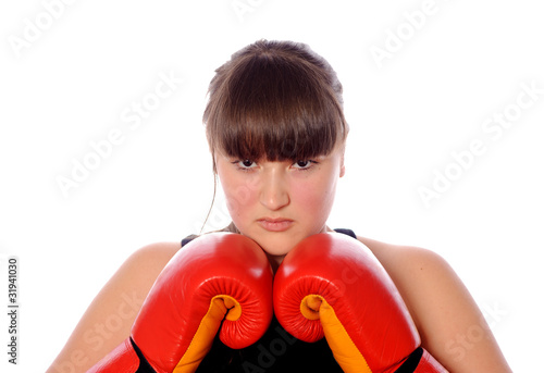 teenager ready for fight