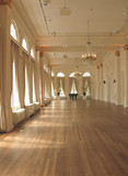 Huge ballroom with piana