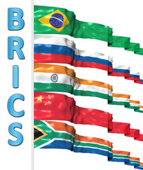 BRICS concept isolated on white