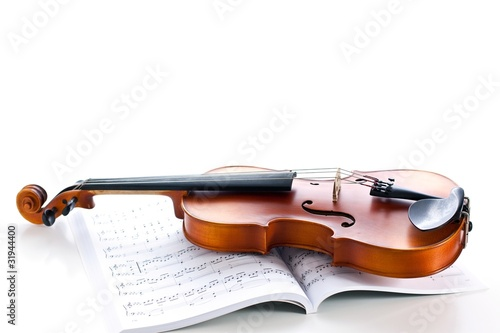 Violin and printed music
