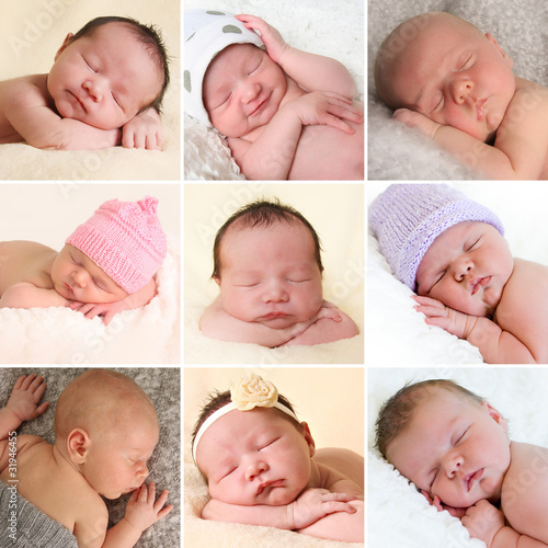 Newborn babies collection