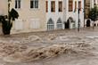 Hochwasser und Überflutung in Steyr