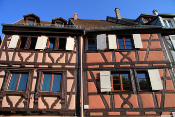 Fachwerkhäuser in Colmar (Elsass)