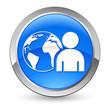 soziales Netzwerk - Button