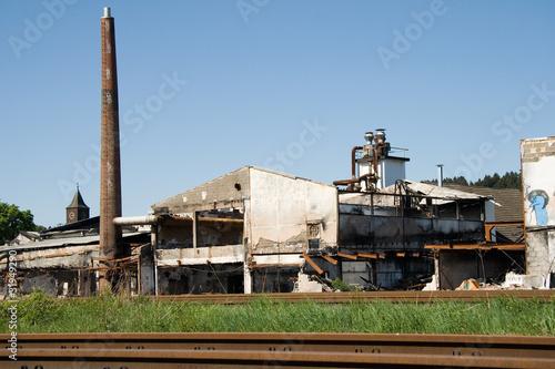 Fabrik nach Feuer
