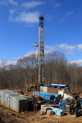 View Of Drilling Derrick