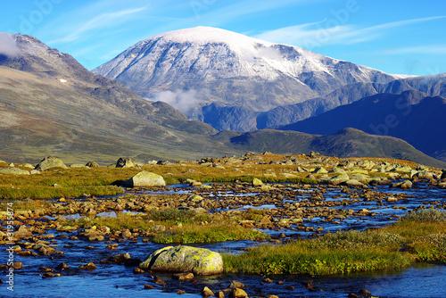 Leinwandbild Motiv Picturesque Norway mountain landscape. Jotunheimen National Park