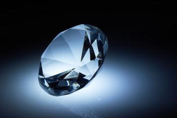 Diamond jewel on dark blue