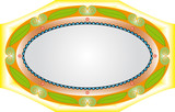 Elegant oval frame with decorative filigree. poster