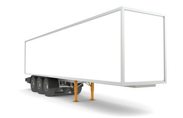 Perspective view of a Trailer. Part of warehouse series.