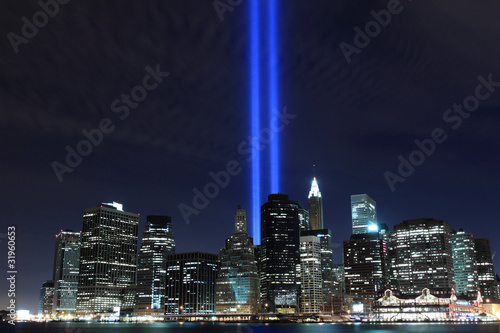 Lower Manhattan Skyline and the Towers Of Lights