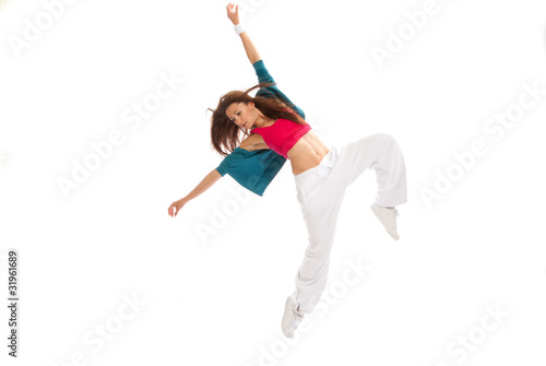 hip-hop new style woman dancer break dancing