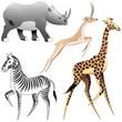 Animali Selvaggi Savana Africana-African Savannah Wild Animals