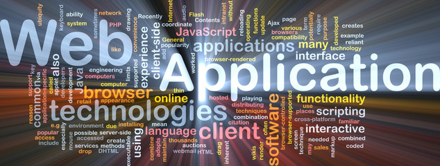 Web application background concept glowing