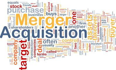 Merger acquisition background concept