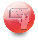 Red Shiny Orb Button