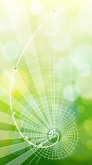 Golden Ratio (Golden Proportion) & green ecology background