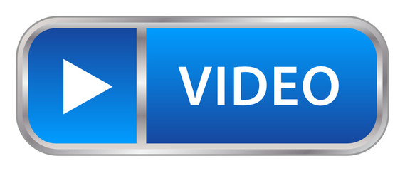 """VIDEO"" Web Button (play media player watch live key icon blue)"