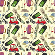 seamless cartoon golf game pattern