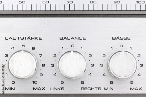 retro radio controll buttons