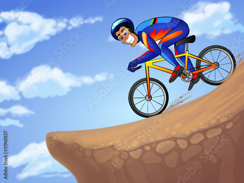 Downhill sportsman