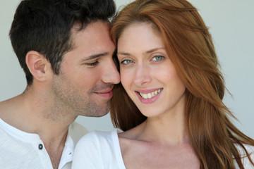 Portrait of in love couple