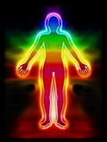 Energiebild Aura Körper Chakra poster