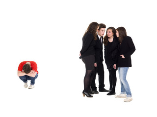 Young man rejected from the group