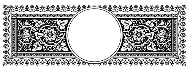 Rahmen, Zertifikat, Vintage, Retro, Ornamente, Floral
