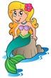 Detaily fotografie Roztomilý kreslený mořská panna