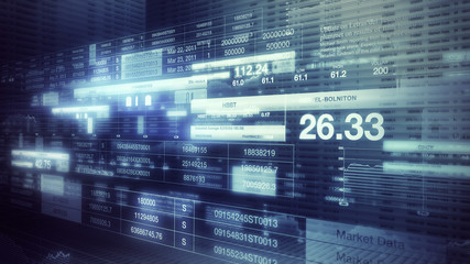 Stock Market Tickers Background