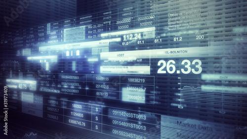 Stock Market Tickers Background