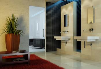 Modernes Badezimmer / Bad