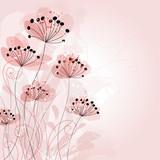 Fototapeta różowy - wzór - Tła