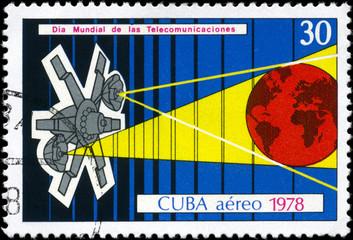 CUBA - CIRCA 1978 Telecommunications