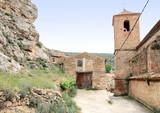 La Asuncion parish church Jorcas village Teruel Spain poster