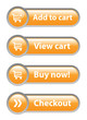 ADD TO CART - VIEW CART - BUY NOW - CHECKOUT Orange Web Buttons
