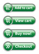 ADD TO CART - VIEW CART - BUY NOW - CHECKOUT Green Web Buttons