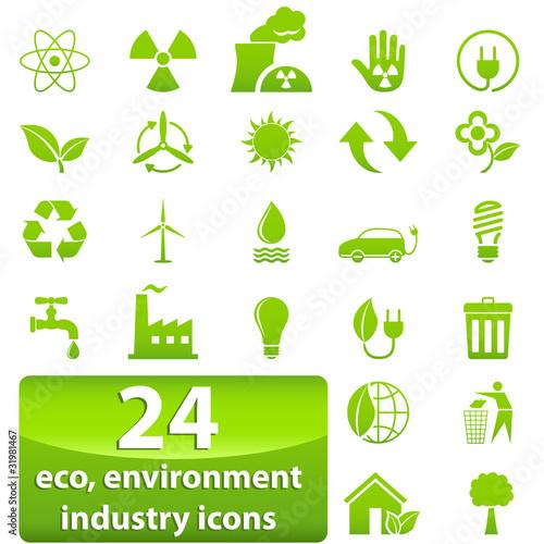 Industrie-, Ökologie- und Umwelt-Zeichen