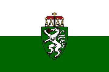 Steiermark or Styria state flag in Austria