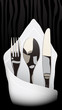 Fork, knife, spoon, serviette