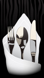 Fototapety Fork, knife, spoon, serviette