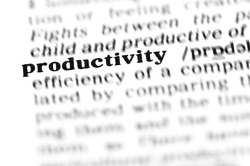 productivity (the dictionary project)